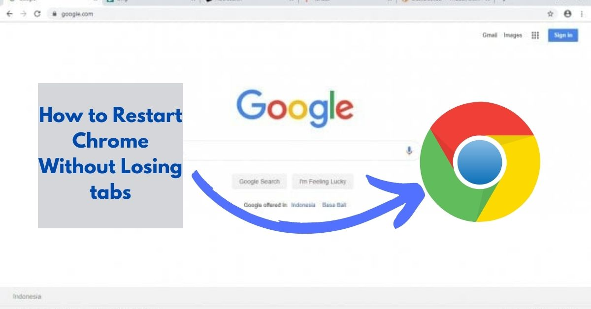 how to restart chrome without losing tabs