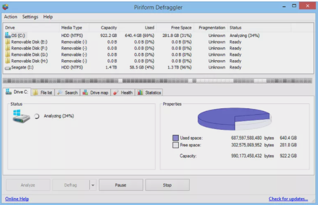Defraggler software