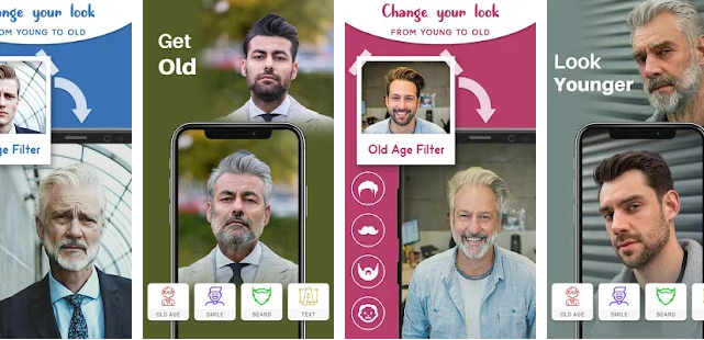 Old age face effect
